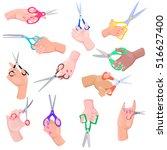 different types of scissors in...   Shutterstock .eps vector #516627400