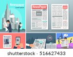 newspapers. news is available... | Shutterstock .eps vector #516627433