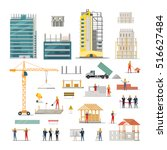 building. kinds of various... | Shutterstock .eps vector #516627484