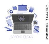 flat design style modern vector ...   Shutterstock .eps vector #516627874