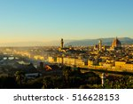 florence panoramic sunset | Shutterstock . vector #516628153
