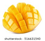 mango slices isolated on the... | Shutterstock . vector #516631540