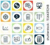 set of 16 universal editable...   Shutterstock .eps vector #516635248