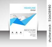 business annual report brochure ... | Shutterstock .eps vector #516638980