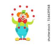 circus clown artist in classic... | Shutterstock .eps vector #516639568