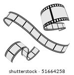 vector film strip set - stock vector