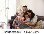 portrait of happy family... | Shutterstock . vector #516642598