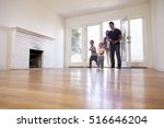 excited family explore new home ... | Shutterstock . vector #516646204