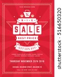 sale flyer or poster design... | Shutterstock .eps vector #516650320