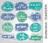 labels with christmas and new... | Shutterstock .eps vector #516652954