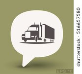 pictograph of truck | Shutterstock .eps vector #516657580