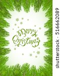 christmas theme with holiday... | Shutterstock .eps vector #516662089