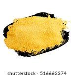 vector golden brush stroke for... | Shutterstock .eps vector #516662374