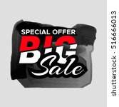 grunge ink design big sale...   Shutterstock .eps vector #516666013