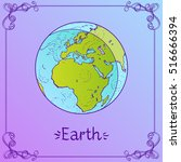 earth. stylized illustration of ... | Shutterstock .eps vector #516666394
