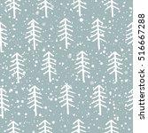 beautiful winter background.... | Shutterstock .eps vector #516667288
