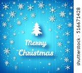 merry christmas bright poster... | Shutterstock .eps vector #516671428