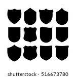shield set vector  | Shutterstock .eps vector #516673780