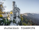 lichtenstein castle in germany  ... | Shutterstock . vector #516684196