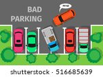 bad parking. car parked in... | Shutterstock .eps vector #516685639