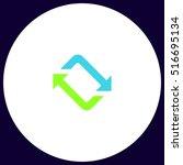 refresh simple vector button.... | Shutterstock .eps vector #516695134