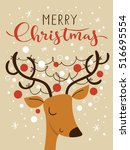vector holiday christmas... | Shutterstock .eps vector #516695554