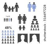 demographic people statistic... | Shutterstock .eps vector #516697228
