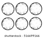set of vector grunge circle.... | Shutterstock .eps vector #516699166