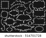 set of hand drawn ink... | Shutterstock .eps vector #516701728
