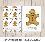 christmas vector template for...   Shutterstock .eps vector #516702280