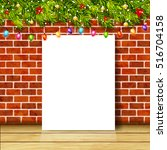 greeting card with christmas... | Shutterstock .eps vector #516704158