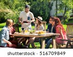leisure  holidays  eating ... | Shutterstock . vector #516709849