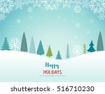 happy holidays landscape. vector | Shutterstock .eps vector #516710230