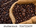 roasted coffee beans | Shutterstock . vector #516722659