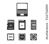 laptop hardware icons pc... | Shutterstock .eps vector #516726004