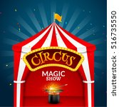 circus tent poster. circus... | Shutterstock .eps vector #516735550