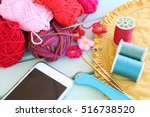 sewing  crochet and knitting... | Shutterstock . vector #516738520