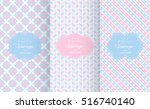 Stock vector baby pastel different vector seamless patterns endless texture can be used for wallpaper pattern 516740140