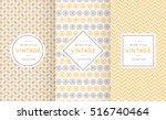 soft different vector seamless... | Shutterstock .eps vector #516740464