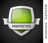 protection shield concept with... | Shutterstock .eps vector #516741328
