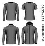 men's clothes collection.... | Shutterstock .eps vector #516742750