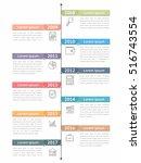 vertical timeline infographics... | Shutterstock .eps vector #516743554