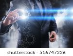 businessman selecting... | Shutterstock . vector #516747226