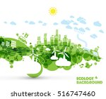 abstract green ecology world... | Shutterstock .eps vector #516747460