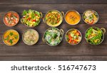 vegan or vegetarian restaurant... | Shutterstock . vector #516747673
