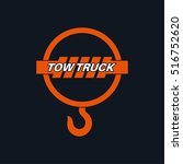 tow truck icon. wrecker logotip.... | Shutterstock .eps vector #516752620