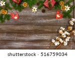 christmas background with... | Shutterstock . vector #516759034