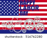 happy labor day american. text... | Shutterstock .eps vector #516762280
