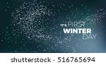 it's first winter day blue ... | Shutterstock . vector #516765694