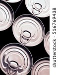 Small photo of Closeup of a group of aluminium cans.